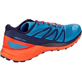 Salomon M's Sense Ride Shoes Fjord Blue/Cherry Tomato/Navy Blaze